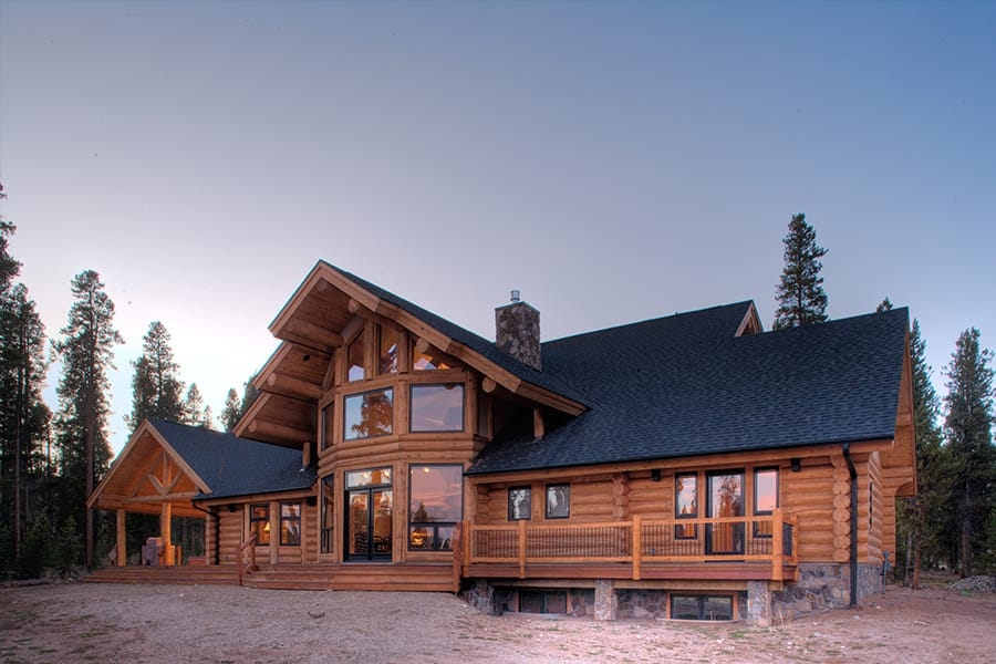 Milled Log Home Exterior