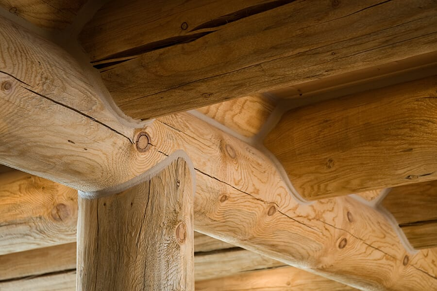 Milled Log Home Joinery Detail