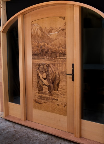 ... Hand Carved Wooden Doors - $18200 ... & Hand Carved Wooden Doors | Summit Log u0026 Timber Homes