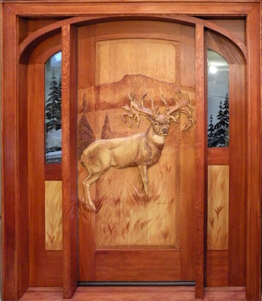 Hand Carved Wooden Doors Summit Log Amp Timber Homes