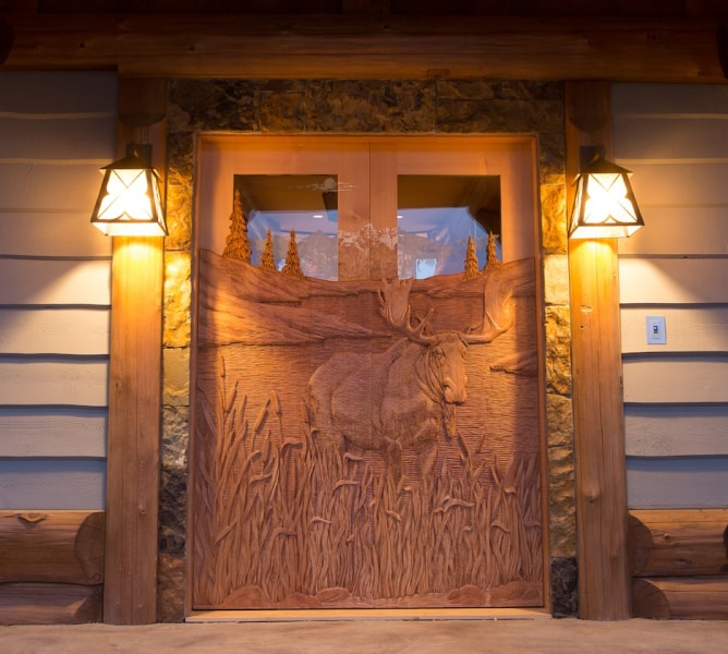 Amazing Hand Carved Wooden Doors Summit Log Timber Homes Interior Design Ideas Inesswwsoteloinfo