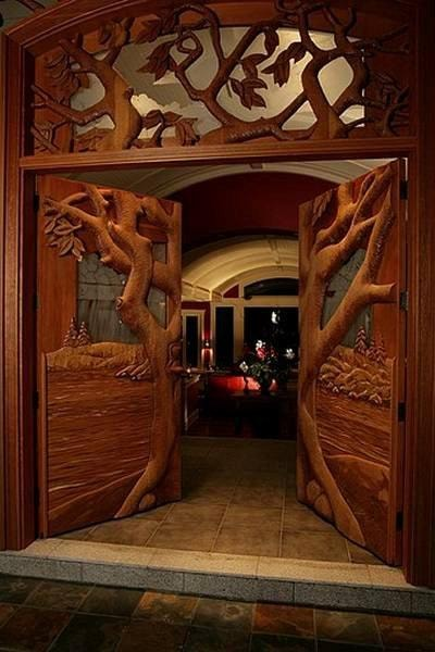Hand Carved Wooden Doors - $26,500