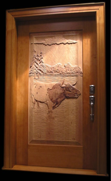 Hand Carved Wooden Doors - $10,800
