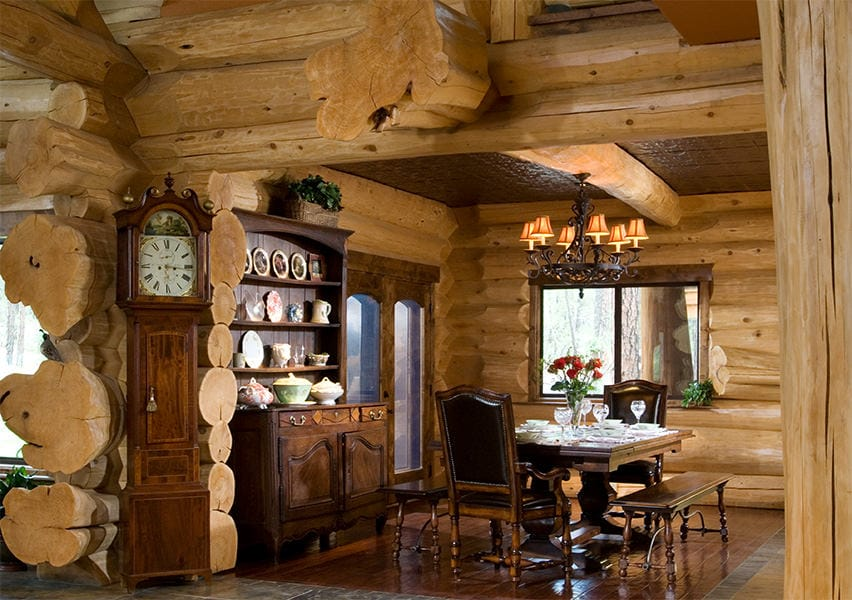 dining room - Log Homes Interior Designs